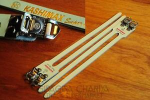 Kashimax Leather Pedal Straps - NJS - Track/Road Bicycle - Single or Double Type