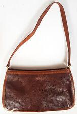 Unusual FURLA 2 tone brown SNAKESKIN top zip SHOULDER BAG purse