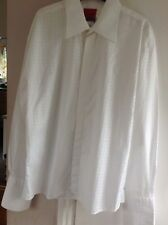 IMMACULATE WHITE BUSINESS/WEDDING/FORMAL LONG SLEEVED OLIVER LONDON SHIRT XL
