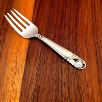 International Sterling Silver Baby Fork Spring Glory 1942 No Monogram