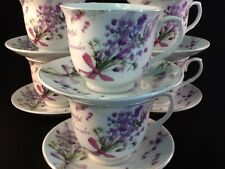 7 oz Coffee 12 Pc Cup Saucer Set Cappuccino Tea Coffee  # 2121