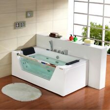 Whirlpool Bath Shower 22 JET Spa Jacuzzi Straight 2 person Double Bathtub 1690mm