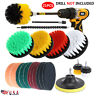 21Pcs Drill Brush Attachment Set Power Scrubber Cleaning Combo Scrub Tub Cleaner