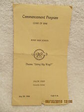 1946 Evansville Bosse High School Commencement Program IN List of Grads' Names