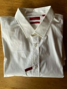 Mens HUGO BOSS Elisha Sz XXL White Stretch Slim Fit Shirt NWOT