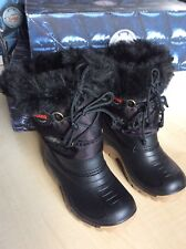 Girls Olang Snow Boots Black Colour size  UK 9-10 EU 27/28 BNIB
