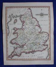 Original antique map SOUTH BRITAIN, ENGLAND, WALES, John Cary, 1809