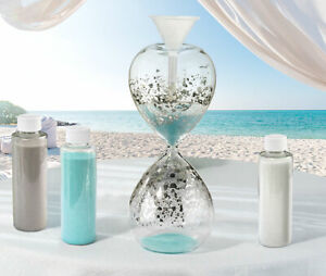 Hourglass Shaped Wedding Unity Sand Ceremony Kit