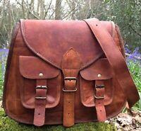 Old Vintage Leather Messenger Women Bag Purse Tote Handbag Satchel Crossbody Bag