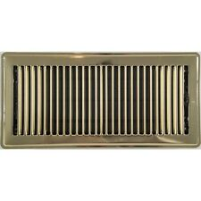 Polished Brass Metal Louvered Floor Vent Register 150x350mm ABFRPB614