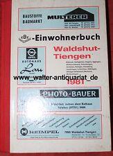 Einwohnerbuch Waldshut-Tiengen 1981 Adressbuch Einwohner Adressen Genealogie