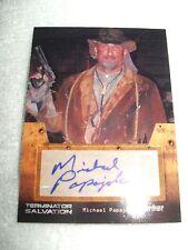 Terminator Salvation Autograph Card Michael Papajohn as Carnahan
