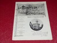 [REVUE EXPOSITION UNIVERSELLE 1900] LE MONITEUR DE 1900 N° 71 #  FEVRIER 1900