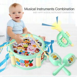 Children's Drum Trumpet Drum Music Percussion Instrument Family Early Education