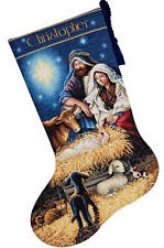 Dimensions Needlecrafts 8838 Holy Night Stocking Counted Cross Stitch Kit