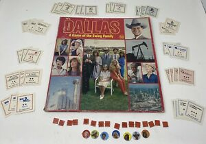 """1980 Dallas TV Show """"A Game of the Ewing Family"""" Board Game Yaquinto-INCOMPLETE!"""
