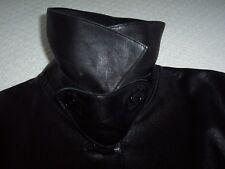 Women's Authentic RALPH LAUREN Purple Label Sz 8 Butter Soft Black Leather Coat