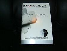 LEXMARK Z22 & Z32 MANUAL / EXCELLENT CONDITION