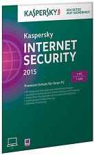 SW Kaspersky Internet Security 2015 1 User