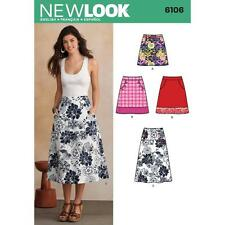 NEW LOOK PATTERN Misses' A-Line skirt in three lengths with pockets 6106