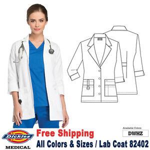 Dickies Scrubs LAB COATS Women's Fashion 30 Inch Lab Coat 82402