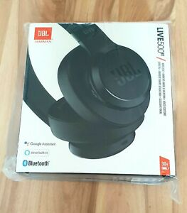 JBL Live 500BT Bluetooth Over Ear Faltbare Kopfhörer Headset Schwarz
