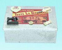 Empty Vintage Antique Retro Look Tin Metal Sewing Craft Box Storage Carry