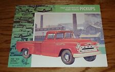 1957 Chevrolet Truck Task Force Pickup Foldout Sales Brochure 57 Chevy
