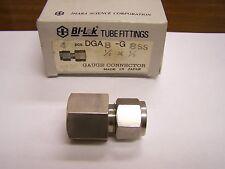 "New listing 4 Bi-Lok Compression Gauge Connector Dga8-G8 Ss 1/2"" Od Tube X 1/2"" Bspp Female"