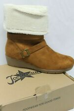 Joe Browns Women Lined Synthetic Fur Compensated Boots Tan UK 7