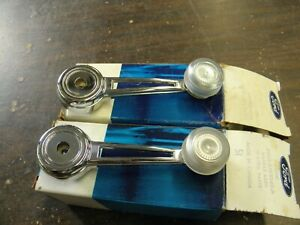 NOS OEM Ford 1972 1973 Torino Door Window Cranks Handles Ranchero