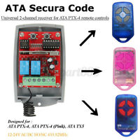 2-Channel Receiver Remote Rolling Fixed Code for ATA PTX4 TX5 Mhouse/BFT  +