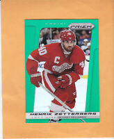 2013 14 PANINI PRIZM HENRIK ZETTERBERG PRIZM EMERALD PARALLEL #27 RED WINGS
