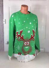 IQ COLLECTION Ugly Christmas Sweater Reindeer Women's MEDIUM