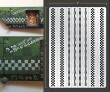 Checkers Airbrush Stencil Terrain Vehicle Schablonen Maskierung Gestaltung