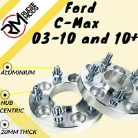Ford C-Max 03-10 and 10 on 5x108 20mm Hubcentric wheel spacers 1 pair UK MADE