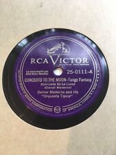 78 rpm OSMAR MADERNA - Concerto to the moon- Tango - RCA VICTOR 25-0111