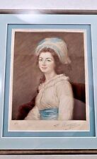 Antique Framed Mezzotint Signed Numbered F Petitjean Blue Eyed Girl Robert Arnot