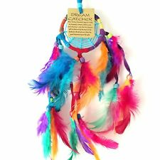 NEW RAINBOW SPIDER WEB DREAM CATCHER NATIVE AMERICAN HANGING MOBILE, MULTI