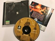 PS1 PLAYSTATION 1 GAME MEDAL OF HONOR UNDERGROUND +BOX INSTRUCTIONS COMPLETE PAL