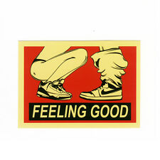 clip art 7cm FEELING GOOD IN SEX car suitcase decal dope vinyl sticker #1088