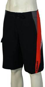 Quiksilver Pig Dog Boardshorts - Black / Red - New