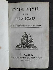 1804 Code civil des français - Edition Originale - Napoléon Bonaparte