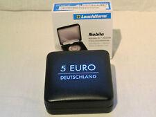 Leuchtturm Münzetui NOBILE für 1 dt. 5-Euro-Sammlermünze in Kapsel, schwarz