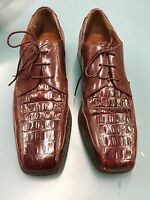 Stacy Adams Cordovan Alligator Leather Mens Shoes