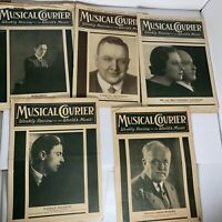 Musical Courier Magazine - Weekly World Music Review -5X lot 1933-1934 Music