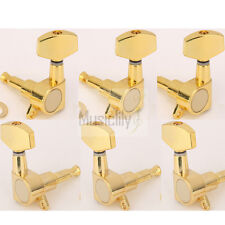 Musiclily 3L3R Gold Big Button Guitar Sealed Tuners Tuning Pegs Machine Heads