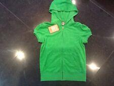 NWT Juicy Couture & Génération Petites Dames Vert éponge coton Pull à capuche