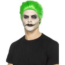 Slick Trickster Joker Style Halloween Fancy Dress Wig Green