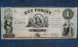 1852 Hungary - 1 Austro-Hungarian Forint (Philadelphia) - Standard Banknote